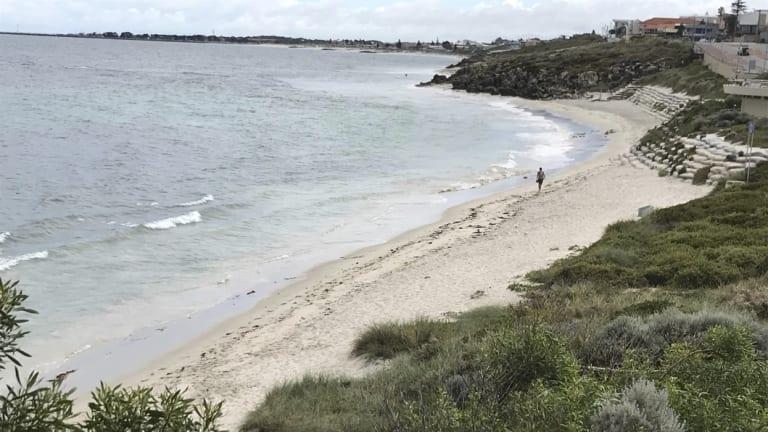 Erosion protection (sandbags) on Marmion Beach, West Coast Highway.