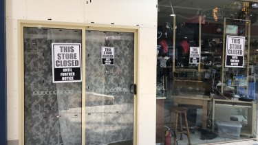 The shop in which the illegal salon was operating out the back of was closed on Wednesday.