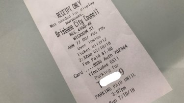 Tammy Forward recommended for everybody to get a receipt when they paid for parking.