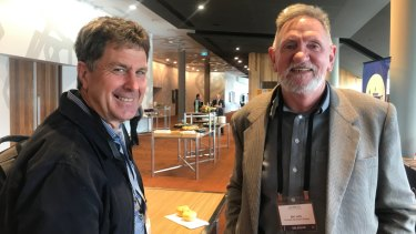 Phil Brown [left] and Bill Jeffs from Country Education Project said the state government financial incentives are a good start. But more is needed.