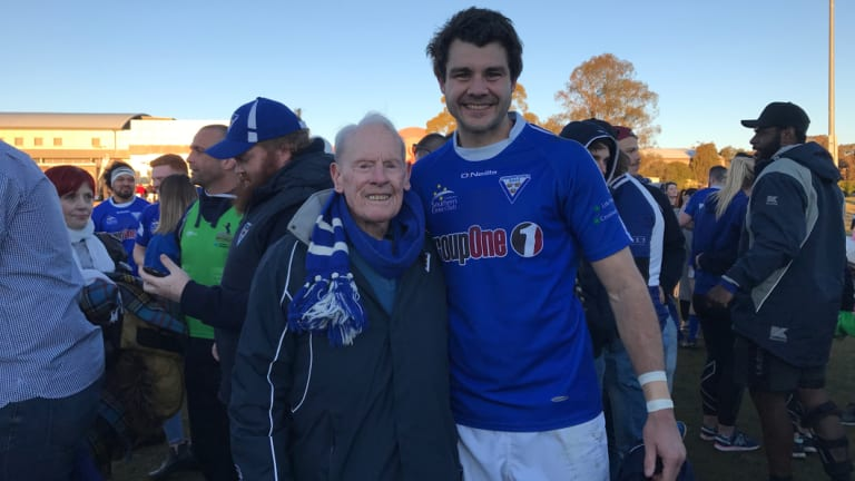 Keith Hawke with Royals captain Ben Johnston.