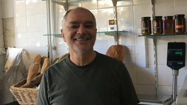 Nick Vanos, owner of The Deli Erskineville, supports the market.