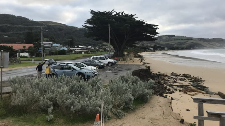 The growing damage at the car park.