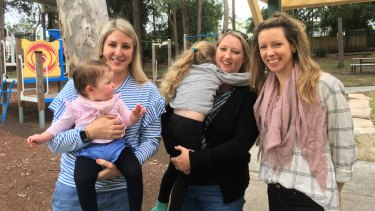 Mansfield families have been hit with Brisbane's biggest rate rise in the 2018-19 budget, with parents (from left) Sinead Higgins, Larissa McCrea and Phoebe Francey concerned about the flow-on effects.