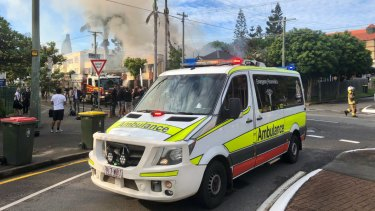 Paramedics remained on standby and treated an injured firefighter and evacuated resident for minor issues.