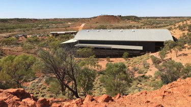 Lark Quarry outside Winton in Outback Queensland.