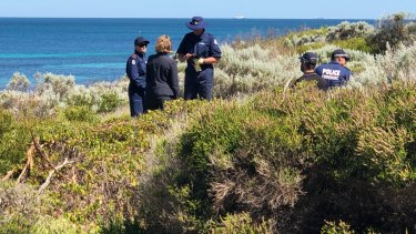 Police comb dunes in Cottesloe for clues to the case of Julie Cutler, missing since 1988.