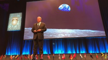 Al Gore took a swipe at Adani during a presentation in Brisbane on Wednesday.