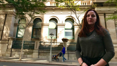 National Trust of Australia Queensland heritage manager Jane Alexander questions why a new entrance is needed on Creek Street to the heritage-listed NAB building on Creek and Queen streets.