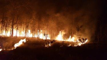 Fires rage at Deepwater in Queensland.