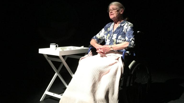 Micki Beckett as Shirley in <i>Coda for Shirley</i>.