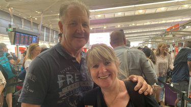 Paul and Vicki Wittwer arrived to find their flight had been cancelled.