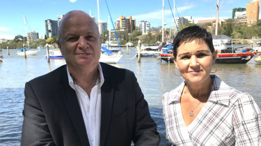 Australian Rivers Institute director Professor Stuart Bunn with Lockyer Valley mayor Tanya Milligan at the launch of the 2019 report into the ecological health of SEQ's rivers and streams.
