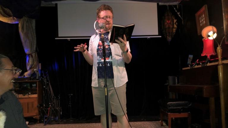 Euan Bowen, aka SirArthur Pundragon, performing at <i>Capital Punishment</i>.