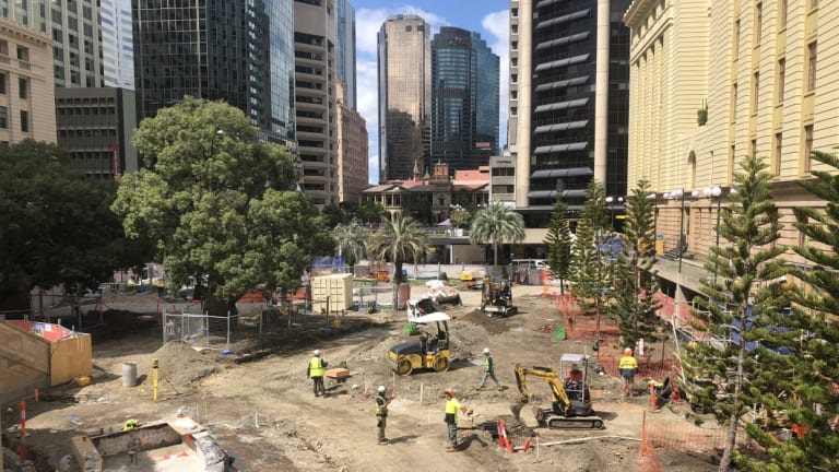 Restoration work underway at Anzac Square