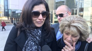 Daughter Maria Siarakas, wife Myroulla Andreou and son Andreas Zacharia, of hit-and-run victim Zacharias Andreou.