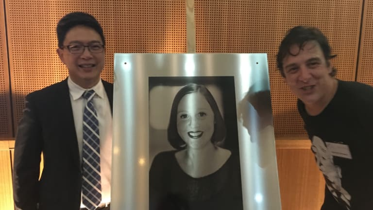 Associate Professor Elgene Lim, head of the Connie Johnson Lab at the Garvan Institute of Medical Research, with Samuel Johnson.