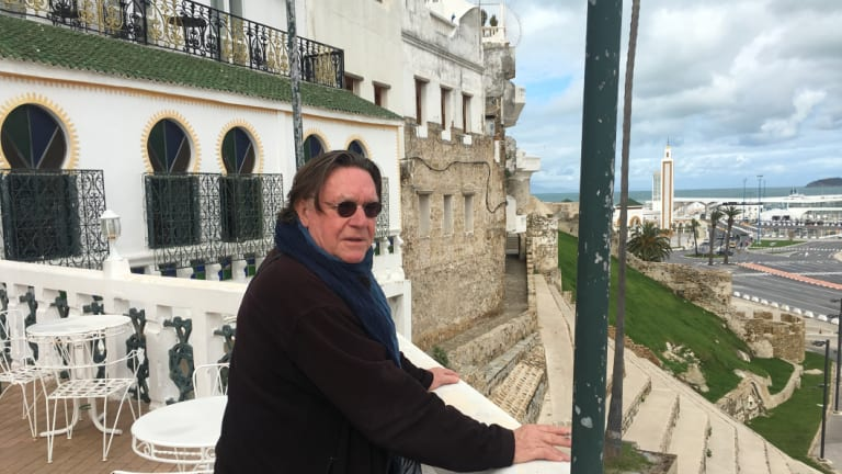Bryan Dawe, seen here at Tangier's Hotel Continental, has been living in the city since late last year.