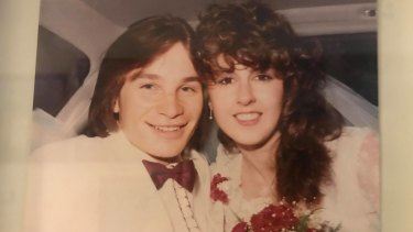 Tiny and Elaine at their wedding in early 1984.