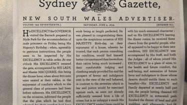Sydney Gazette, June 5, 1819.