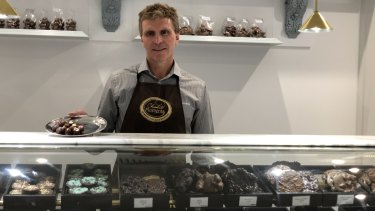 Chocolatier Gerrard Gosens from Chocolate Moments on Albert Street says Cross River Rail has had a huge impact on his business.