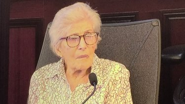 Darryl Hilda Melchhart, 90, appears at the Royal Commission into Aged Care Quality and Safety in Sydney.