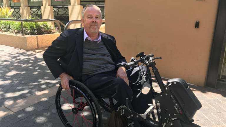 Michael Rabbit says he doesn't qualify for the NDIS.