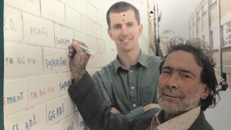 Vincent Greentree, who expressed himself writing one-word graffiti.