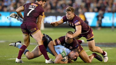 Queensland's defence aims up in game one.