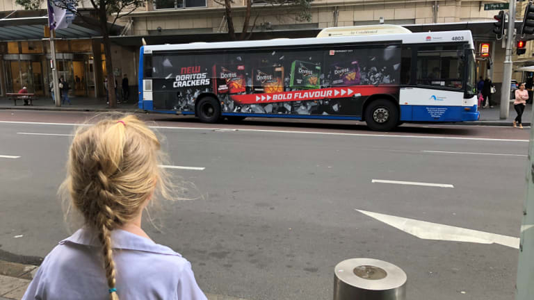 A significant number of children in NSW are exposed to these advertisements as more than 400,000 children use a train or bus daily.