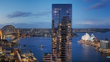 Artist impression of the apartment block destined for One Circular Quay, Sydney.