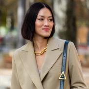 MyTheresa fashion buyer Tiffany Hsu models the trend in Paris.