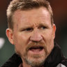 Magpies coach Nathan Buckley.