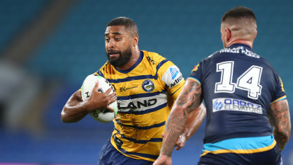 Parramatta thump Gold Coast to top NRL ladder