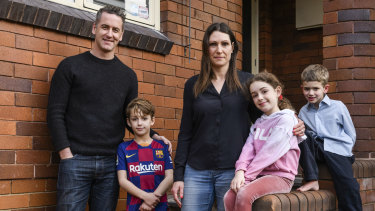 Jessica Green and Justin Cassar and their children; Charlie, Lola, and Louis are unable to go on their planned holiday to Queensland due to the new COVID-19 restrictions.