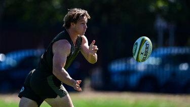 Michael Hooper at Australia's captain's run on Friday.