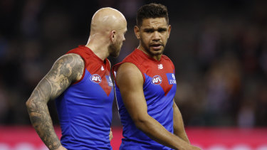 The Demons' horror injury run continues, with Neville Jetta (right) requiring more knee surgery.