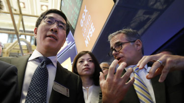 Larry Chen is maintaining a cheerful outlook despite seeing his fortune plummet.