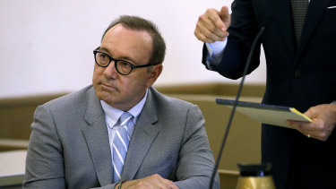 Actor Kevin Spacey, pictured in a Massachusetts court last month during a pretrial hearing, has faced questioning over other claims from the UK.