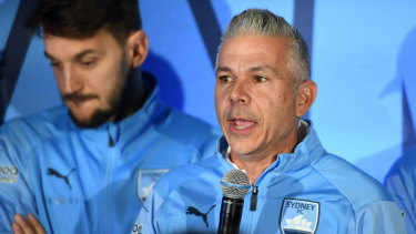 'I did it my way': Sydney FC coach Steve Corica is the first coach to win the A-League championship in his first season.