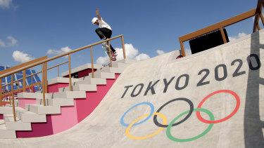 Skateboarder Nishiya Momiji.