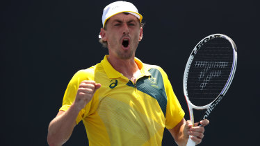John Millman stormed into the second round.
