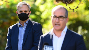 Chief Health Officer Brett Sutton (left) has said that people would try to escape restrictions if Melbourne was locked down.