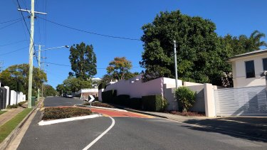 Single-vehicle traffic-calming chicanes on Hipwood Road, where cars queue during peak hour.
