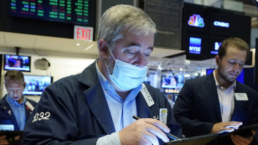 Wall Street's benchmark S&P 500 index finished an uneven day in the red.