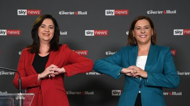 Red vs Blue: the leaders face off in the first of two debates in three days as the campaign hits the final stretch.
