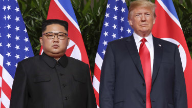 """One body language expert said Trump was in control from start to finish and described Kim as """"nervous""""."""
