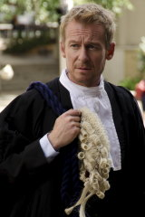 It is a moot point if Richard Roxburgh plays a clever barrister in ABC TV's 'Rake'.