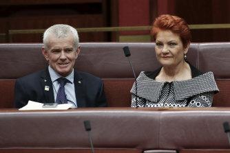 Senator Malcolm Roberts and Senator Pauline Hanson control two critical votes in the Senate.