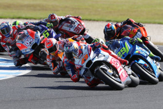 Riders in action during last year's race on Phillip Island.